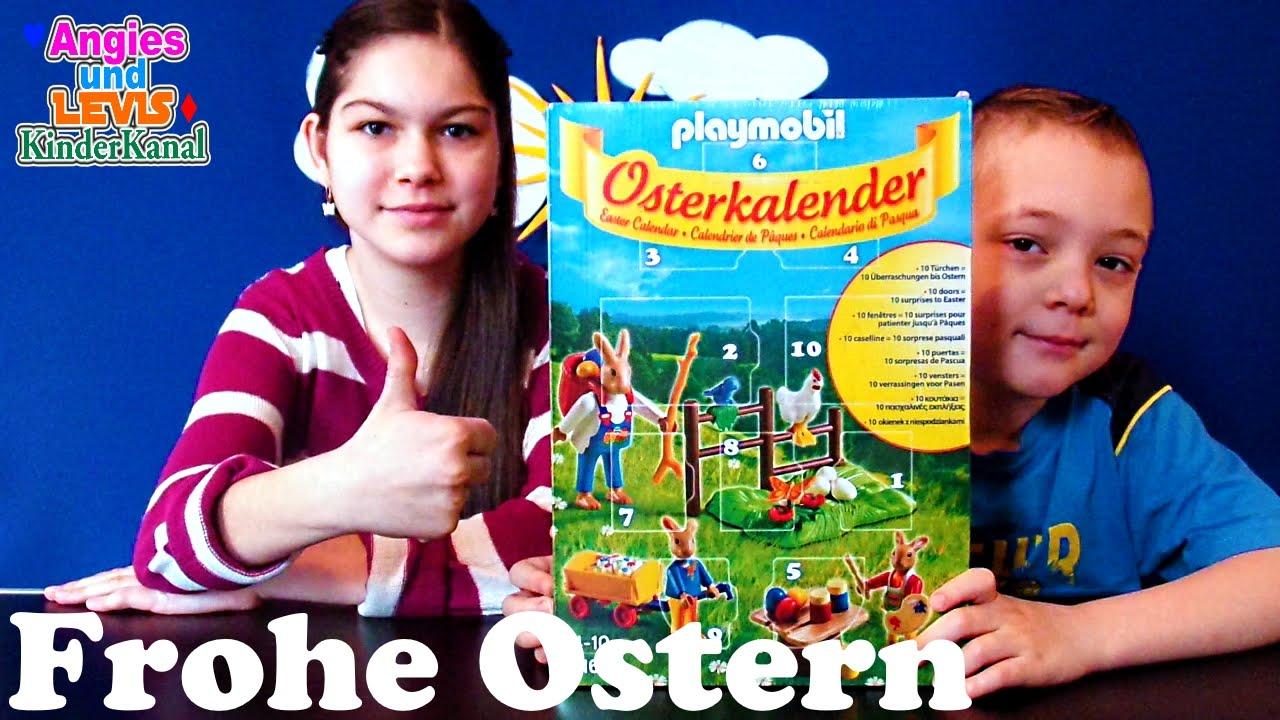 osterkalender playmobil frohe ostern osterhasen