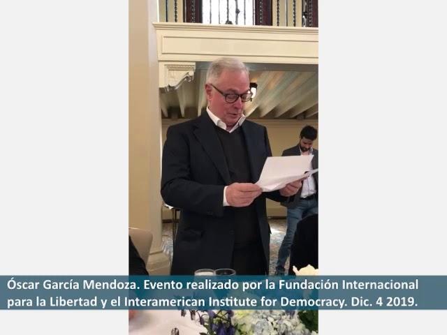 Intervención de Óscar García Mendoza, miembro del Concejo Consultivo del IID en el Evento de FIL,
