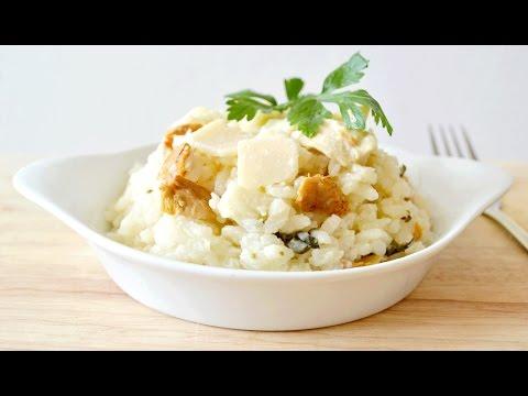 risotto-au-poulet,-champignons-et-parmesan