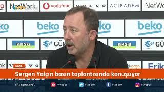 CANLI - Beşiktaş Teknik Direktörü Sergen Yalçın basın toplantısı düzenliyor