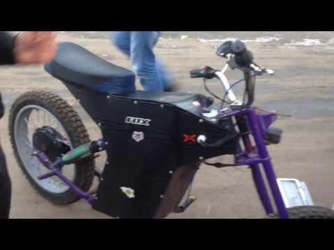 видео: Полноприводный электро байк. custom electric bike. Обзор.