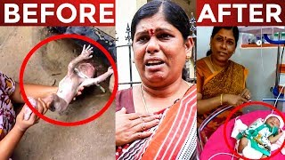 A heartwarming story about a women rescues a baby from the Drainage pipe in Valasaravakam