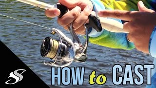 How to Cast a Spiฑning Reel/Rod - For Beginners