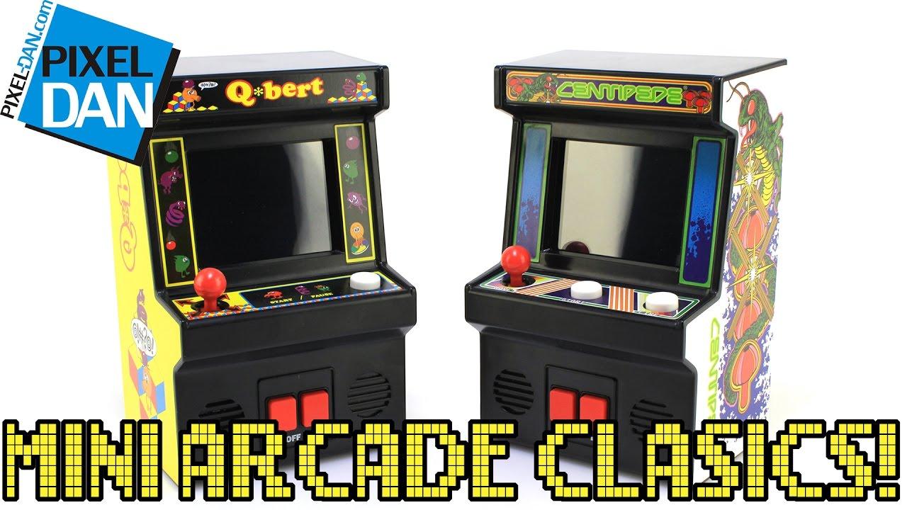 Arcade Classics Mini Cabinets Q*Bert & Centipede Handheld Games ...
