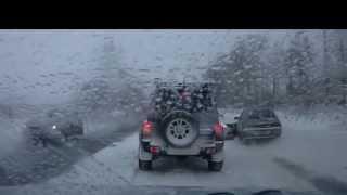 Зима ошибок не прощает. ДТП на зимней дороге снятое на видеорегистратор.