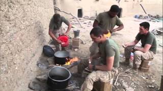 Cooking During Combat in Afghanistan - U.S. Marines 1st Battalion 8th Marine Regiment
