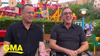Tom Hanks and Tim Allen explore Toy Story Land l GMA