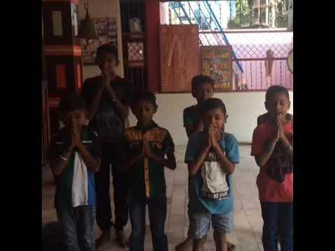 MORNING PRAYER BY OUR GORWA EDUCATION CAMPAIGN SLUM CHILDREN