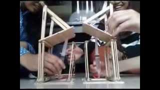 Membuat Jembatan Hidrolik Dari Stik Es Krim