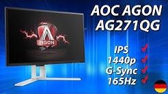 "AOC AGON AG271QG Test | 27"" 1440p IPS 165Hz G-Sync Biest (deutsch)"