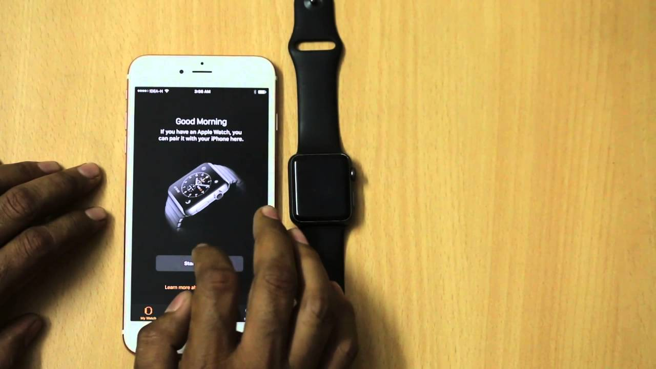 big sale b2f6f f2483 How To Set Up And Pair Apple Watch With iPhone (iPhone 6S Plus)