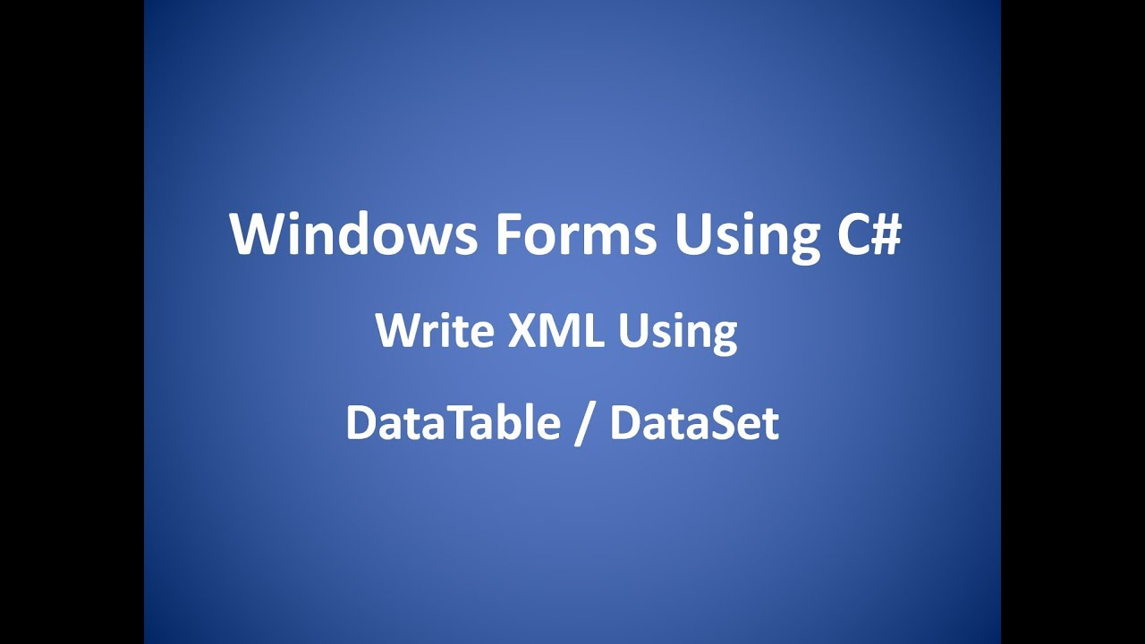 Write an xml file c#