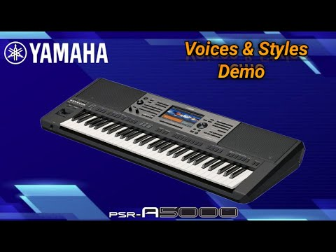 Yamaha PSR A5000 Factory Voices & Styles Demo