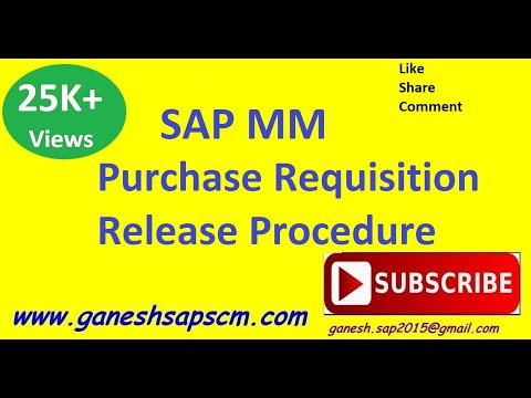 SAP MM PR Release Procedure| Purchasing |Approval Process| PR | ERP | Online Tutorial
