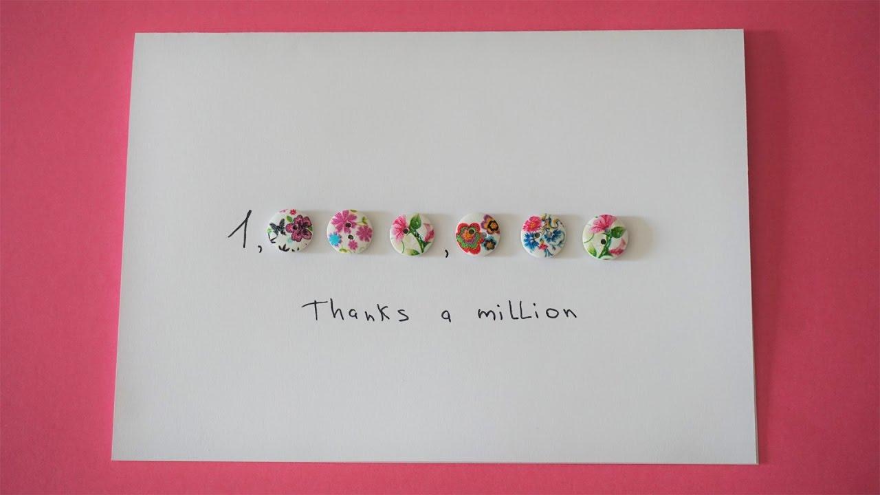 Thank card. Easy DIY Thank you card - YouTube