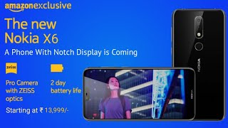 Nokia X6 in india - Amazon Exclusive,Price,Specs & Launch Date.