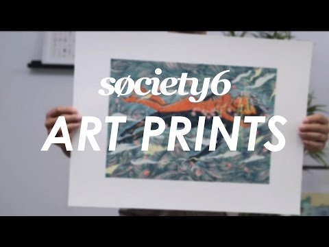 Art Prints From Society6 - Product Video