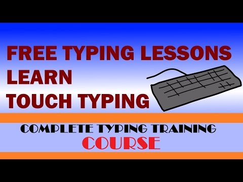 Typing Training lessons - Lesson 1