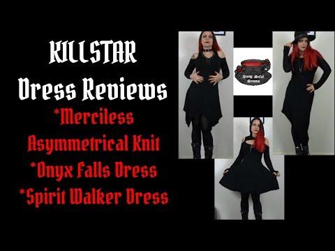 Killstar Dress Reviews - Merciless Asymmetrical Knit, Onyx Falls Dress, Spirit Walker Dress