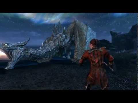 Skyrim - Cicero dominates a dragon!
