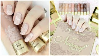 Lace Nail Art! Too Faced Natural Collection Inspired | The Nail Trail