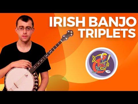 Irish Banjo Lesson  Triplets + The Boyne Hunt Irish Reel