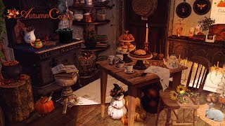 🎃🕯WITCH'S KITCHEN AMBIENCE: Bubbling stew, chopping sounds, creaking sounds, water sounds