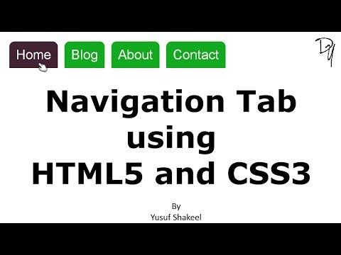 Navigation Tab Using HTML5 And CSS3 - No JavaScript