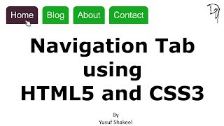Navigation Tab using HTML5 and CSS3 - No JavaScript