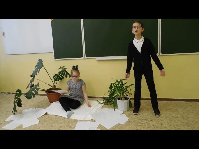 Изображение предпросмотра прочтения – «Полякова Ксения и Никитин Станислав» читают произведение «Она сидела наполу…» Ф.И.Тютчева