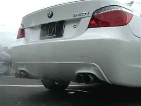 BMW E60 530i M Sports REMUS 76 Round dual LR system  YouTube