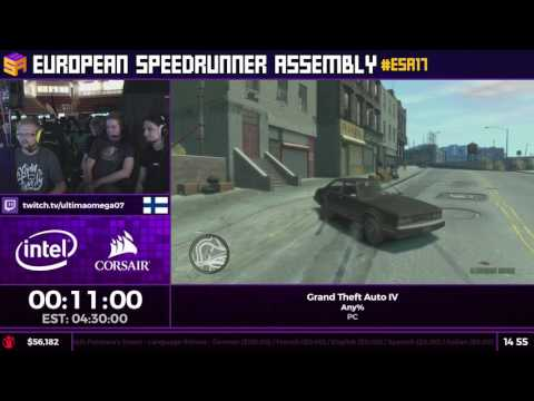 #ESA17 Speedruns - Grand Theft Auto IV [Any%] by UltimaOmega07
