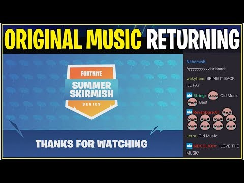 *NEW* Fortnite: ORIGINAL/OG MUSIC RETURNING TO BATTLE ROYALE! | (Epic Teases)