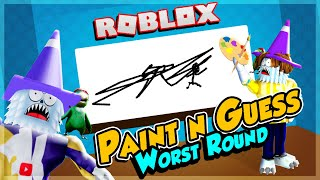 PAINT n GUESS with fans (worst round) | Roblox