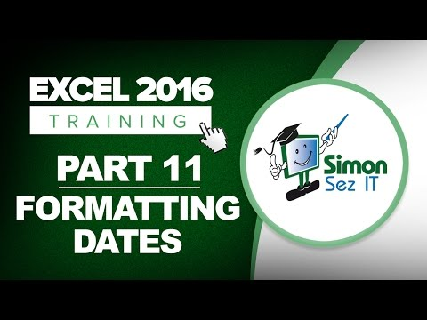 Excel 2016 for Beginners Part 11: How to Format Dates in an Excel 2016 Spreadsheet
