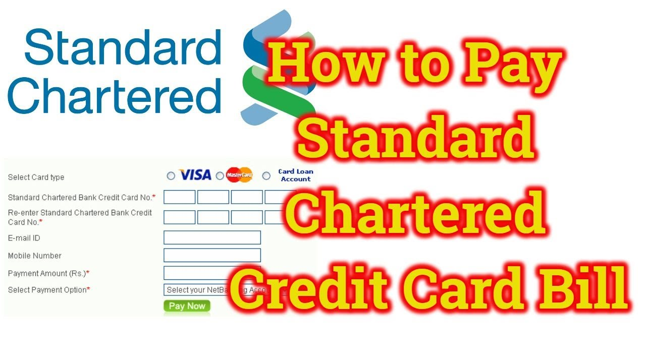 How to pay standard chartered credit card bill online through other how to pay standard chartered credit card bill online through other bank standard chartered bank falaconquin