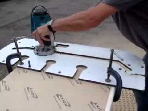 Kitchen Worktops   How To Cut With A Router   YouTube