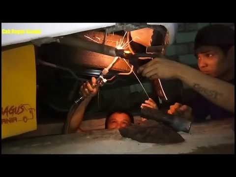 Masang Knalpot suara JET BUS di mobil Bensin