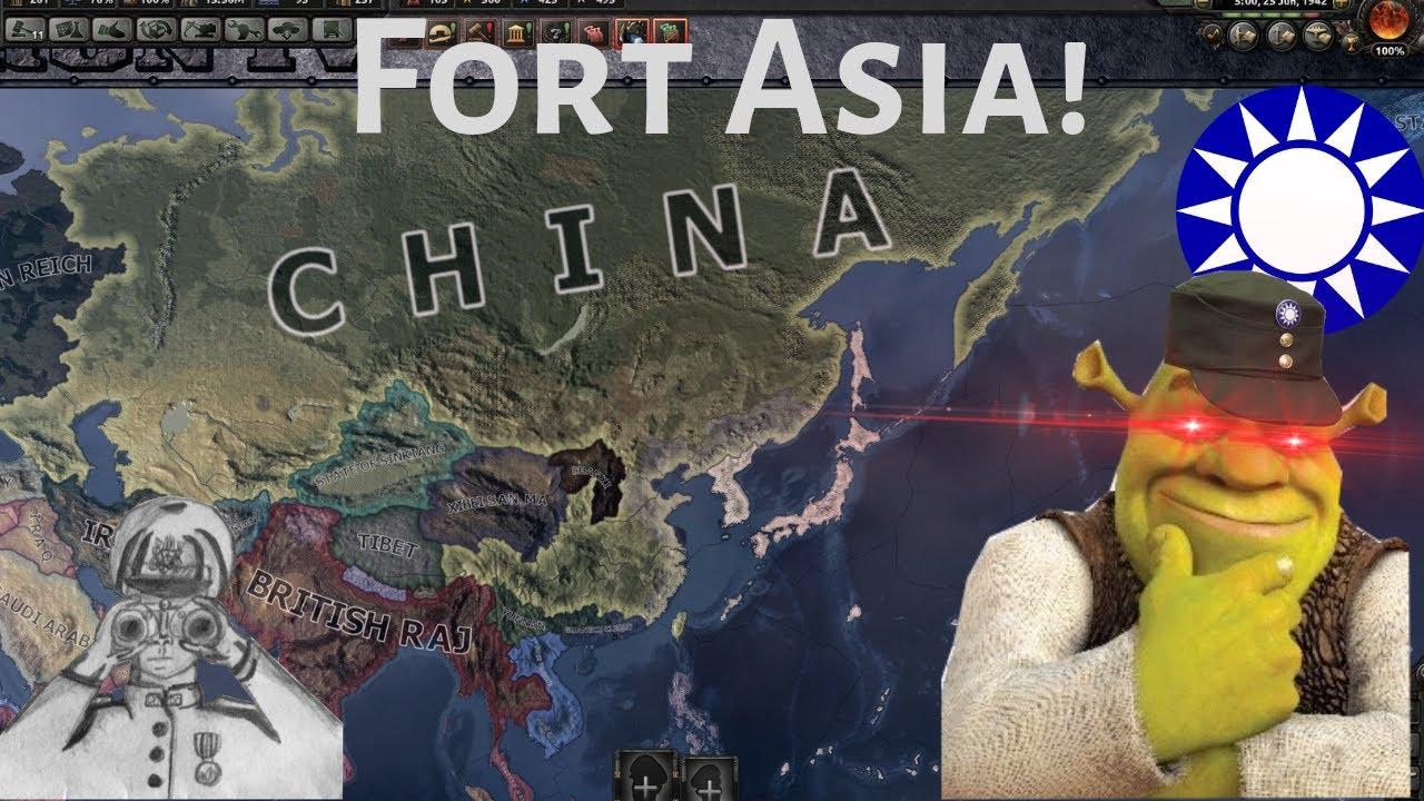 Fort Asia! China defended against Japan! (hoi4 Timelapse