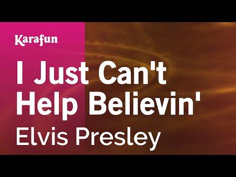 Karaoke I Just Can't Help Believin' - Elvis Presley *