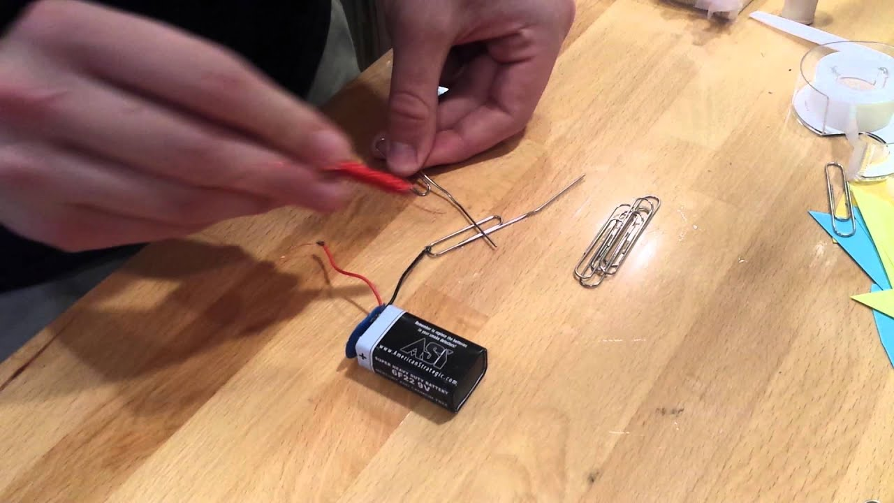 Paper Paper Clip Switch Circuit - Data Wiring Diagrams •