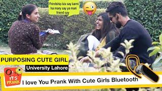 PROPOSING CUTE GIRL AT UNIVERSITY | PRANK IN INDIA VS PAKISTAN | Prank Gone Romantic | Sohaib&ZAFAR