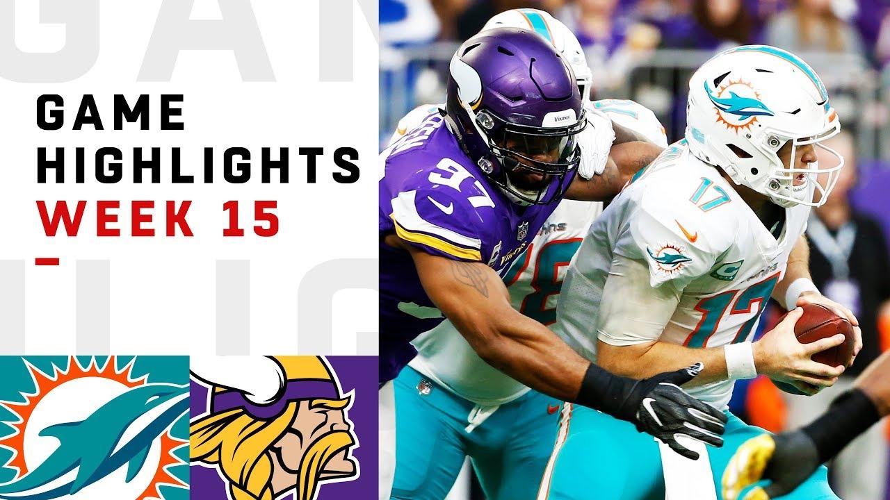 235a22d820c Dolphins vs. Vikings Week 15 Highlights | NFL 2018 - YouTube