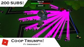 [200 SUBS] Winning in Co-op - Triumph! | Tower Battles [ROBLOX] | ft. Greendew7