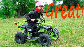 Ride on power wheel new Quad Bike for kids | Children unboxing and assembling Motorbike