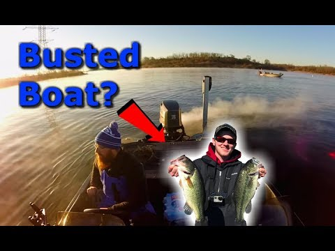 Broken Boat Bass Fishing Tournament on Nuclear Power Plant Lake