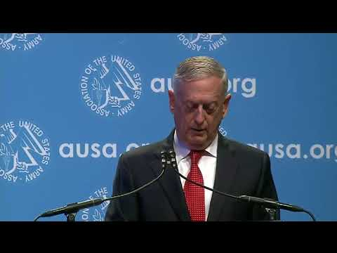 Mattis Diplomacy Is First Option With North Korea - Full AUSA Keynote