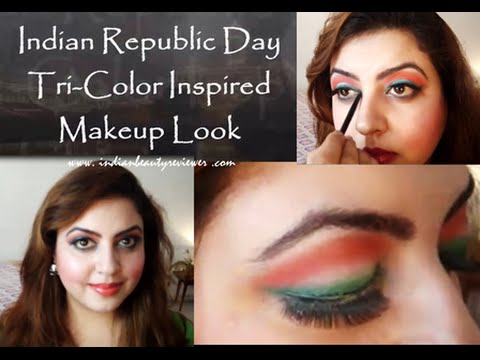 Indian Republic Day Tri-Color Inspired Makeup Look