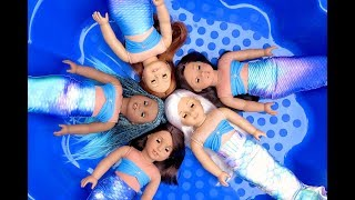 Transforming My American Girl Dolls Into MERMAIDS With Fin Fun Tails!