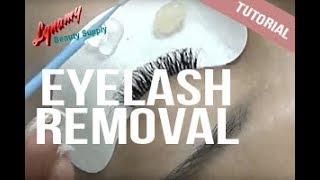 Eyelash Extension Removal Technique Lynamy Tutorial